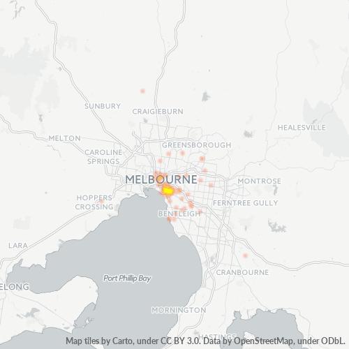 3181 Business Density Heatmap