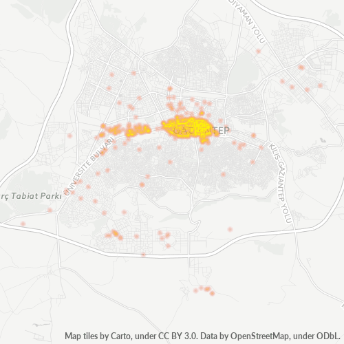 27010 Şirket Yoğunluğu Isı Haritası