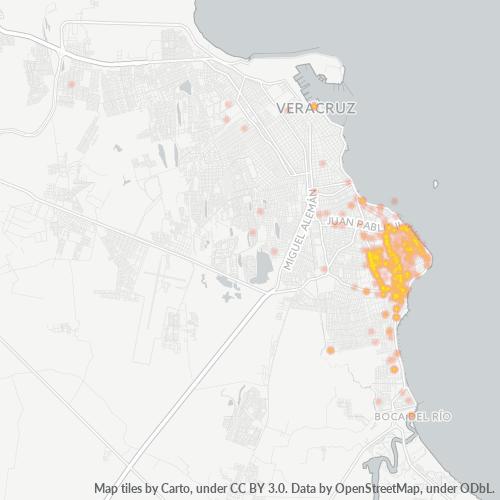 94299 Mapa de calor de densidad empresarial