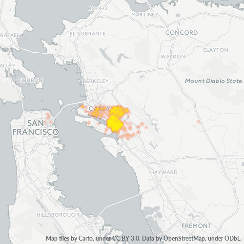 94601 Business Density Heatmap