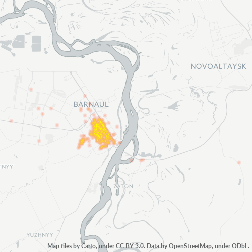 656049 Тепловая карта плотности предприятий