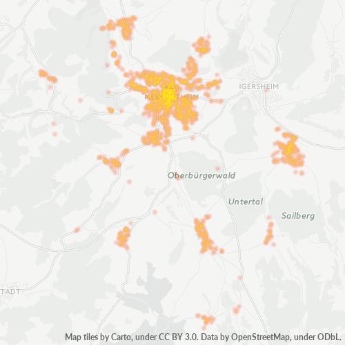 97980 Standortdichte-Heatmap