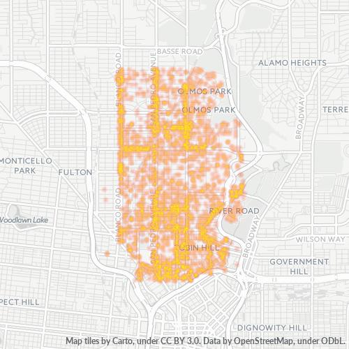 78212 Business Density Heatmap