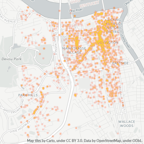 41011 Business Density Heatmap