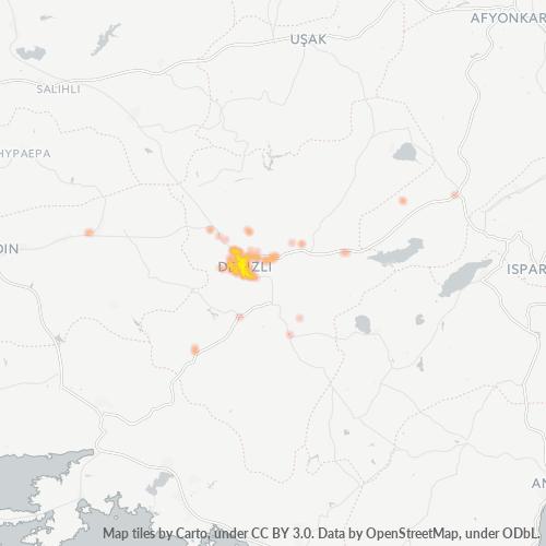 20100 Şirket Yoğunluğu Isı Haritası