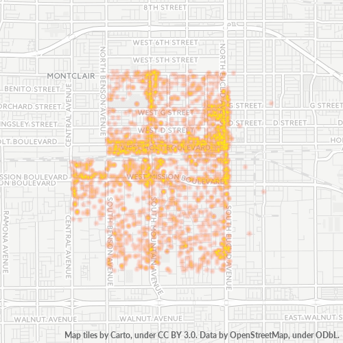 91762 Business Density Heatmap