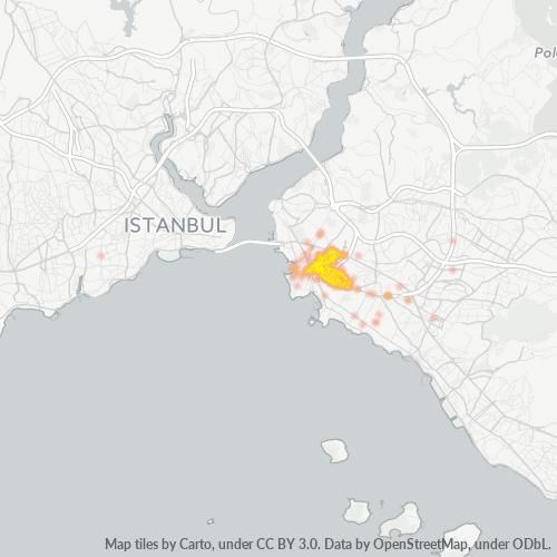 34722 Şirket Yoğunluğu Isı Haritası