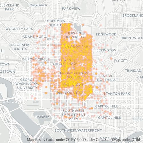 20001 Business Density Heatmap