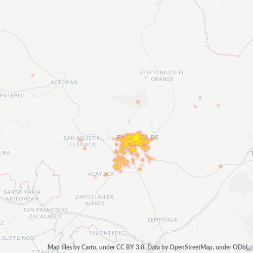 42000 Mapa de calor de densidad empresarial