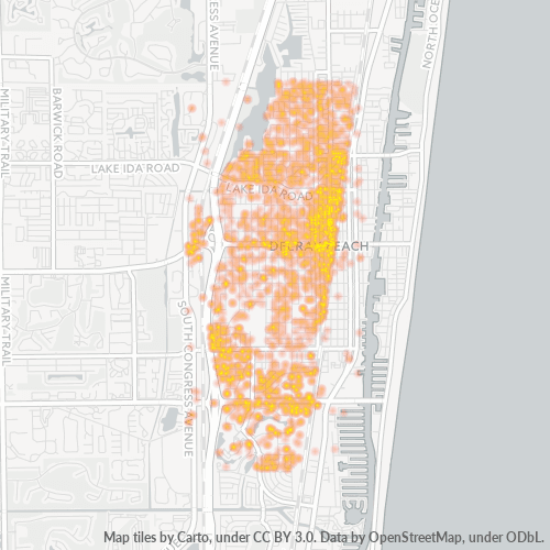 33444 Business Density Heatmap