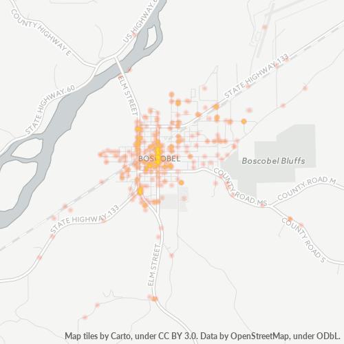 53805 Business Density Heatmap
