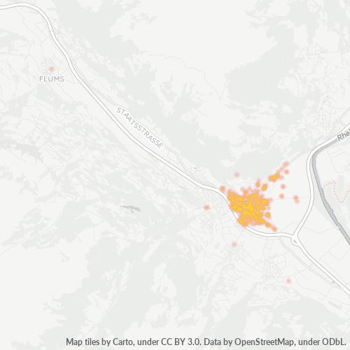 7320 Thermocarte de densité d'activité