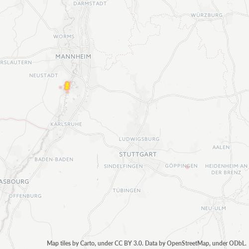 67354 Standortdichte-Heatmap