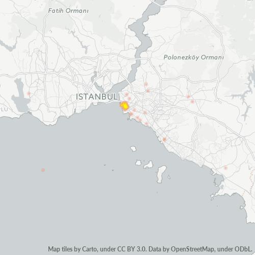 34716 Şirket Yoğunluğu Isı Haritası