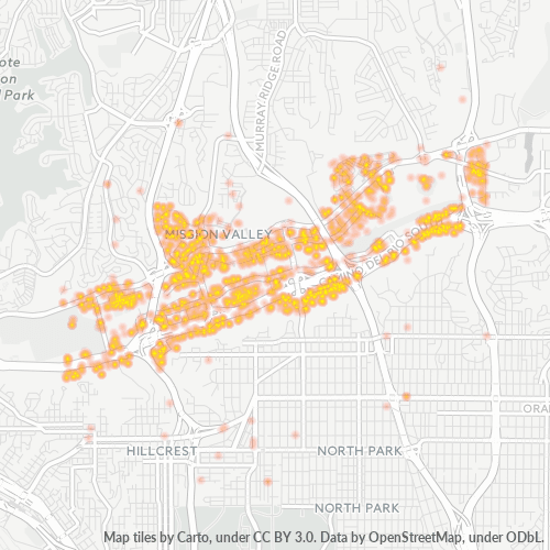 92108 Business Density Heatmap