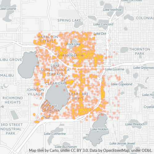 32805 Business Density Heatmap