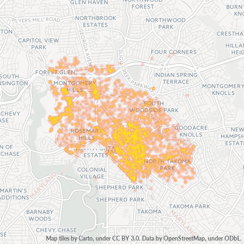 20910 Business Density Heatmap