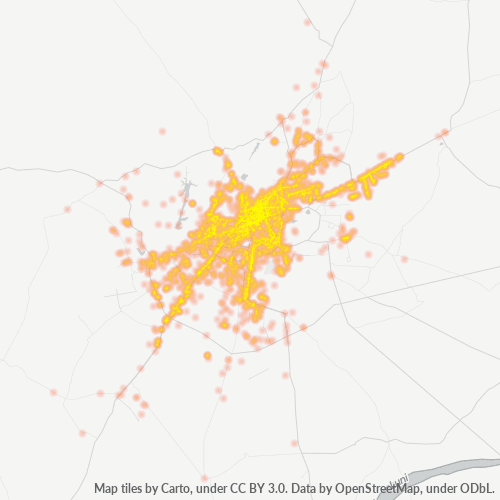 342001 Business Density Heatmap