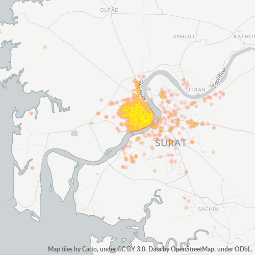 395009 Business Density Heatmap