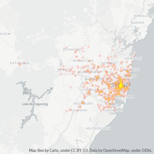 2000 Business Density Heatmap