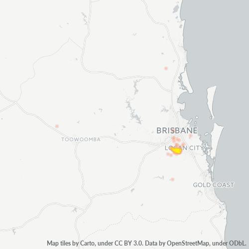 4118 Business Density Heatmap