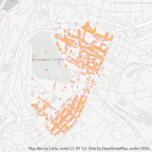 36203 Mapa de calor de densidad empresarial
