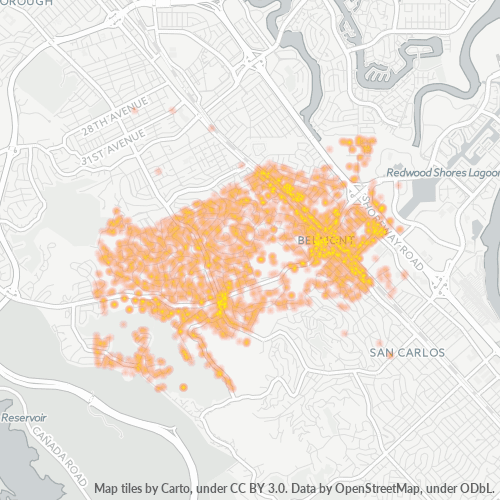 94002 Business Density Heatmap