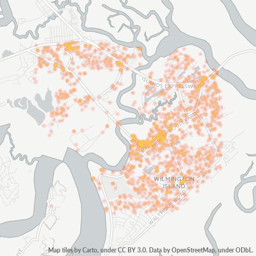 31410 Business Density Heatmap