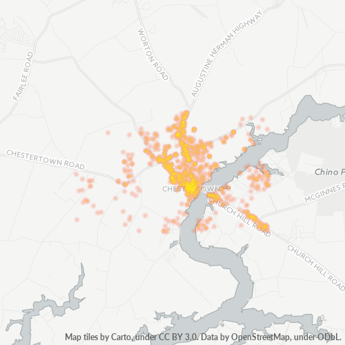 21620 Business Density Heatmap
