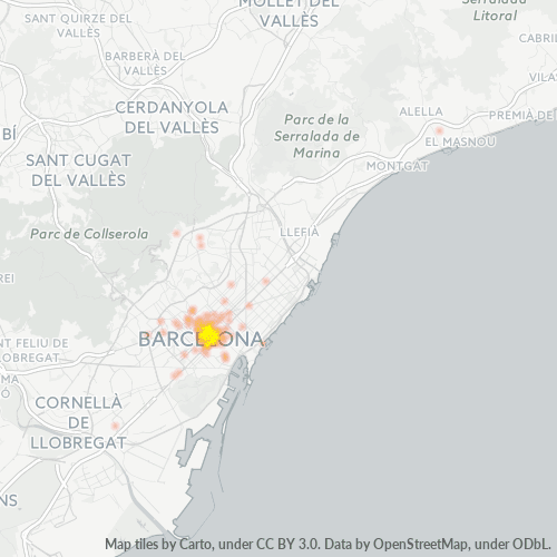 08007 Mapa de calor de densidad empresarial