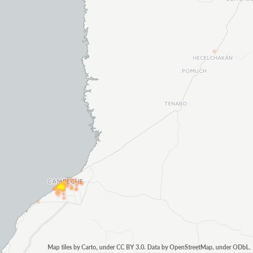 24040 Mapa de calor de densidad empresarial