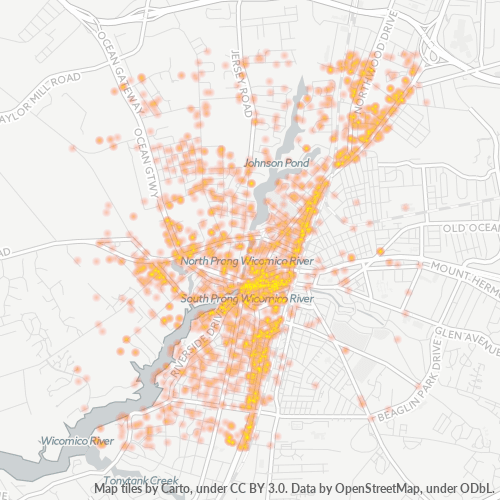 21801 Business Density Heatmap