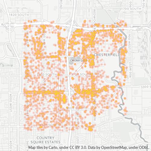 84119 Business Density Heatmap