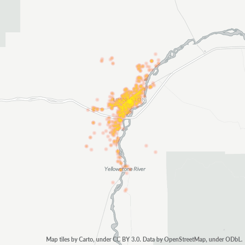 59047 Business Density Heatmap