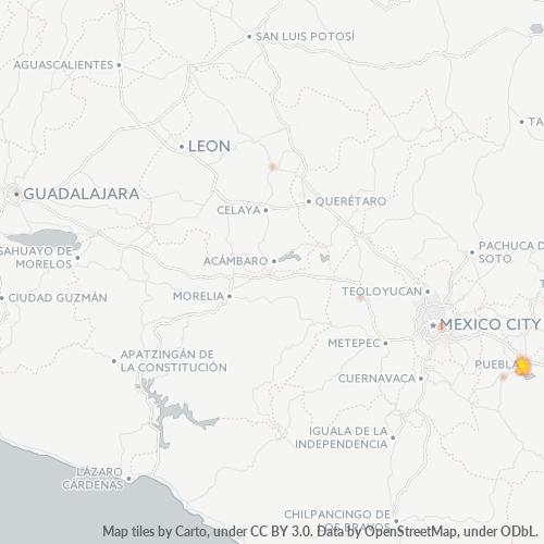 72430 Mapa de calor de densidad empresarial