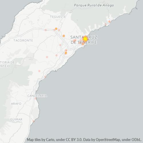 38002 Mapa de calor de densidad empresarial