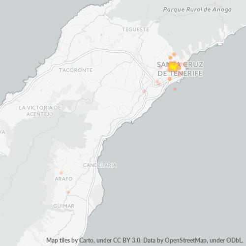 38006 Mapa de calor de densidad empresarial