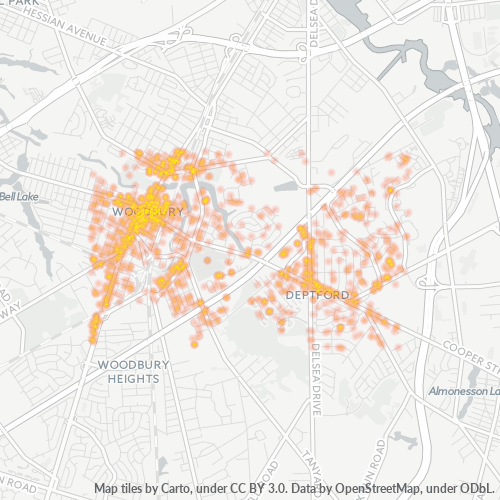 08096 Business Density Heatmap