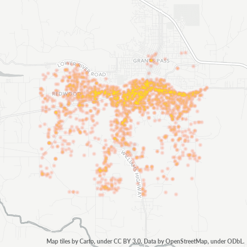 97527 Business Density Heatmap