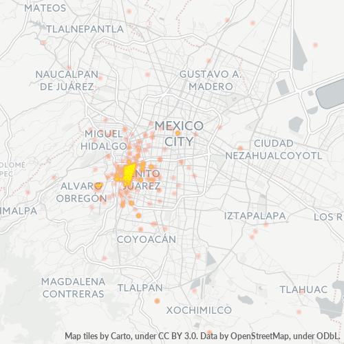 03810 Mapa de calor de densidad empresarial