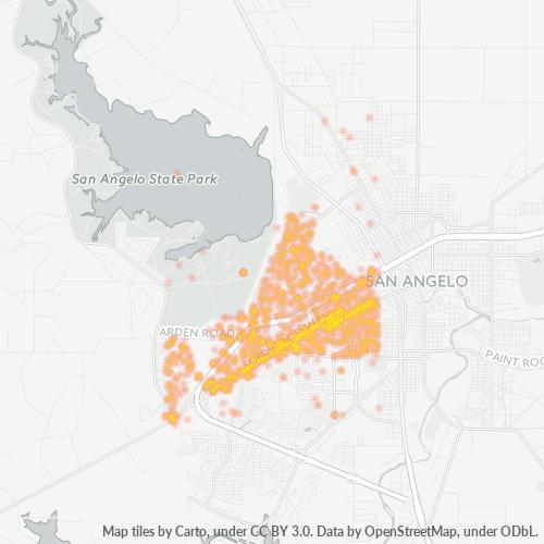 76901 Business Density Heatmap