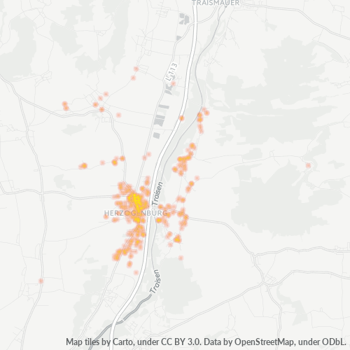 3130 Standortdichte-Heatmap