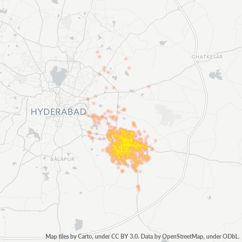 500070 Business Density Heatmap
