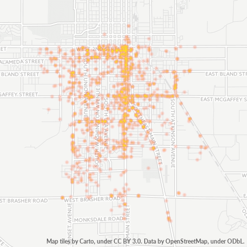 88203 Business Density Heatmap