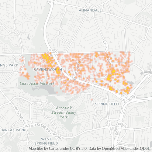 22151 Business Density Heatmap