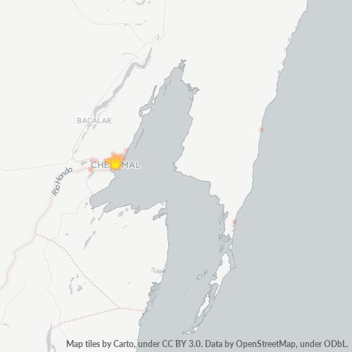 77000 Mapa de calor de densidad empresarial