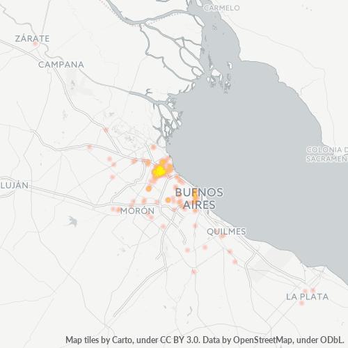 1605 Mapa de calor de densidad empresarial