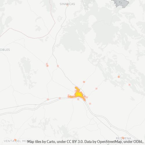 46300 Mapa de calor de densidad empresarial