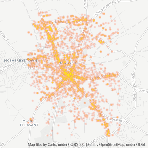 17331 Business Density Heatmap
