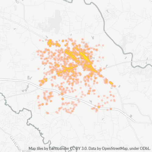 27520 Business Density Heatmap